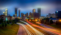 Atlanta Skyline Fog