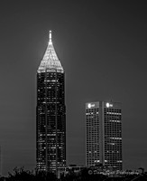 Atlanta Skyline - B&W ATT and BOA
